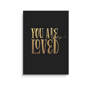 Lucy Darling Gold You Are Loved Print Wall Decor, Black, 8 X 10