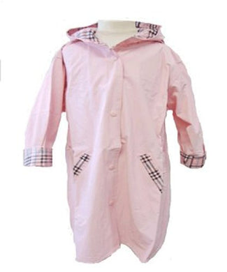 Raincoats Hooded Snap Front Nylon Sizes 2/20 Pink By Shaindys Childrens Wear (2, Pink)