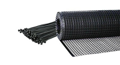 Kidkusion Heavy Duty Deck Guard, Black - 16' L X 34  H | Made In Usa; Indoor/Outdoor Balcony And Stairway Deck Rail Safety Net; Child Safety; Pet Safety; Toy Safety