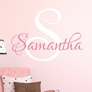 Nursery Custom Name Wall Decal Sticker, 23  W By 20  H, Girl Name Wall Decal, Girls Name, Wall Decor, Personalized, Girls Name Decor, Girls Nursery, Girls Bedroom, Plus Free White Hello Door Decal