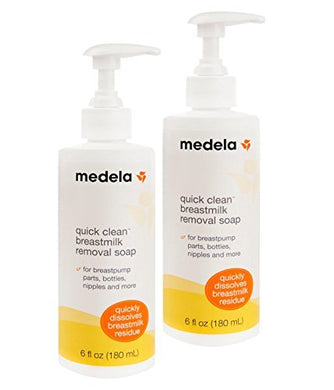 Medela Quick Clean Breast Milk Removal Soap, 6 Ounce.  Removes Stains Up To 3 Days Old