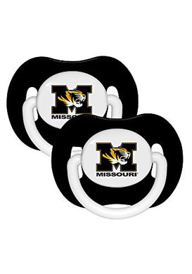 Missouri Tigers Set Of 2 Baby Pacifiers New In Packaging