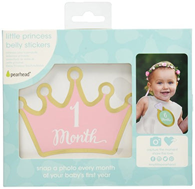 Pearhead Little Princess Baby'S First Year Belly Stickers