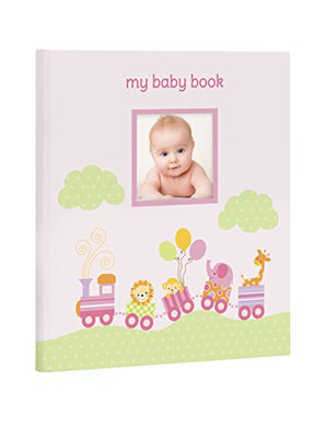 Lil Peach Animal Train Baby Memory Book, Cherish Every Precious Moment Of Your Babys First Years, Perfect Baby Shower Gift, Pink