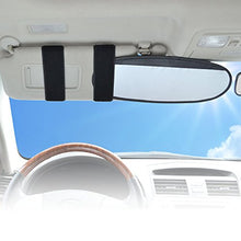 Load image into Gallery viewer, Wanpool Anti-Glare Anti-Dazzle Vehicle Visor Sunshade Extender Sun Blocker For Cars, Vans And Trucks (Silver) - 2 Pieces