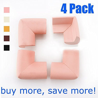 Ledmo Baby Proofing Corner Guards, Soft And Nontoxic Edge&Amp;Corner Bumpers Table Corner Guards For Child Safety Home Safety Baby 4Pcs - Pink