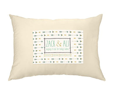 Zack &Amp; Ali Toddler Pillow, Soft 100% Organic Cotton, 13 X 18, Made In Usa