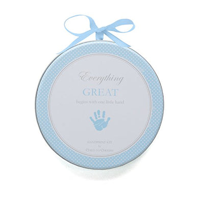 Child To Cherish My Child'S Handprint With Hanger, Blue