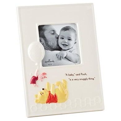 Winnie The Pooh Baby Ceramic Square Picture Frame, 4X4 Picture Frames