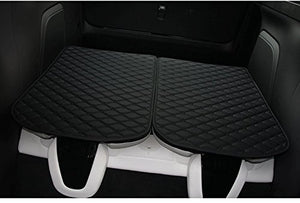 3Rd Row Back Seat Protector Mat For Tesla Model X 6 Seat And 7 Seat (2 Of Set, Black)