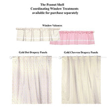 Load image into Gallery viewer, Gold And Pink Chevron And Dots 3 Piece Baby Crib Bedding Set By The Peanut Shell