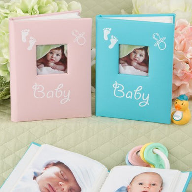 Baby Brag Book Photo Album For Purse Of Desk - New Mom - Grandma - 1St Pictures (Boy - Blue)