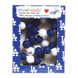 Chewbeads Mlb Gameday Teething Necklace, 100% Safe Silicone-Los Angeles Dodgers