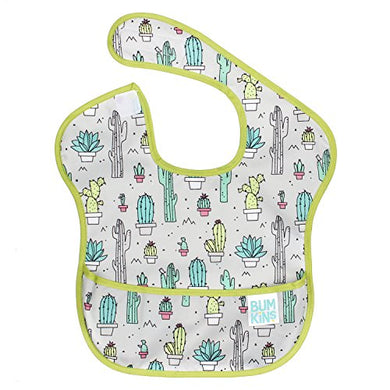Bumkins Superbib, Baby Bib, Waterproof, Washable, Stain And Odor Resistant, 6-24 Months  Cactus