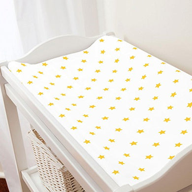 Carousel Designs Saffron Stars Changing Pad Cover - Organic 100% Cotton Change Pad Cover - Made In The Usa