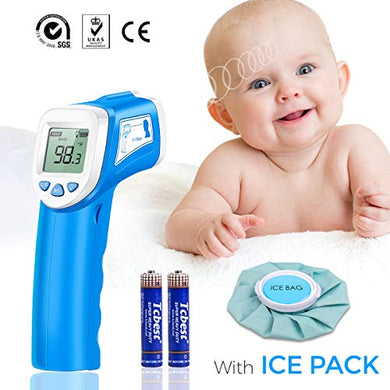 Baby Thermometer - Forehead Thermometer For Fever - Accurate Dual Mode Professional Medical Body Fever Thermometers For Baby, Kid And Adult | Cooling Bag Included