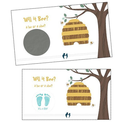 Gender Reveal Scratch Off Cards (Gender Reveal: Boy) - 25 Qty