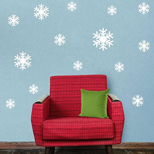 Hatop New Wall Sticker Frozen Snow Flakes Vinyl Art Wall Quote Decal Sticker Removable (White)