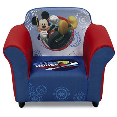 Delta Children Plastic Frame Upholstered Chair, Disney Mickey Mouse