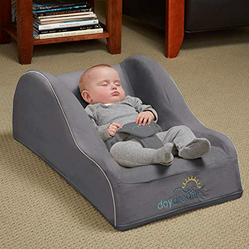 Hiccapop Day Dreamer Sleeper Baby Lounger Seat For Infants - Travel Bed - Bassinet Alternative, Charcoal Gray