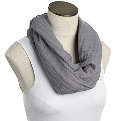 --Sale--Hold Me Close Muslin Double Gauze Nursing Scarf (Solid Graphite)