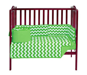 Baby Doll Bedding Chevron Mini Crib/ Port-A-Crib Bedding Set, Green