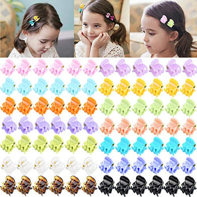 84Pcs Mini Hair Claw Tiny Hair Clips For Baby Gilrs Kids Women (14 Candy Colors)