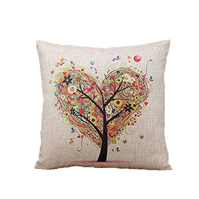 Usstore Flax Pillow Square Pillow Throw Pillow Cover Cases Decorative Cushion