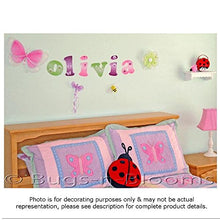 Load image into Gallery viewer, Wall Letters H Green Pink Ladybug Letter Stickers Alphabet Initial Vinyl Sticker Kid Decals Children Room Decor Baby Nursery Girl Bedroom Decorations Child Names Personalized Decal Graphics Ladybugs