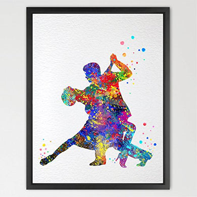 Dignovel Studios 8X10 Dancer Watercolor Art Print Wall Art Poster Home Decor Wall Hanging Birthday Gift Wedding Gift Music Art Inspirational Gift N031