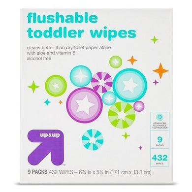 Up &Amp; Up Toddler And Family Flushable Wipes - 432 Ct