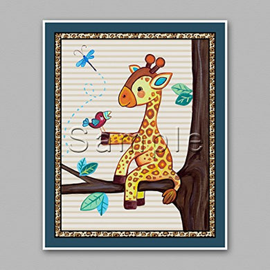 Treetop Jungle Animal Buddies Nursery Wall Art Prints (16 X20 , Giraffe)