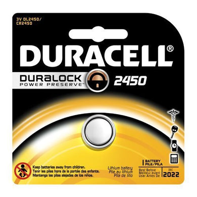 Duracell Dl2450 Lithium Coin Battery, 2450 Size, 3V, 540 Mah Capacity (Case Of 6) Size: 6 Style: 2450 Model: Dl2450