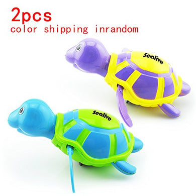 Sealive Baby&Amp;Child Floating Bath Fun Toys,Wiggly Swimming Turtles Pool Baby Play Chain Animal Toys, For 3 Months Baby&Amp;Kid At Least(2Pcs,Random Color)