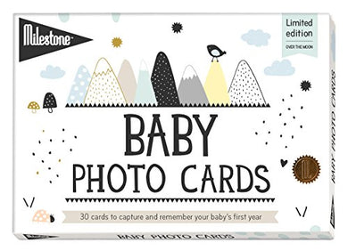 Milestone - Baby Photo Cards Over The Moon - Set Of 30 Photo Cards To Capture Your Baby'S First Year In Weeks, Months, And Memorable Moments