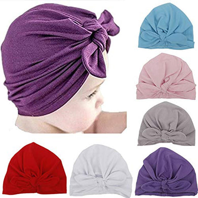 Ademoo Newborn Girls Nursery Beanie Rabbit Ears Hospital Hat (Rabbit Ears 6 Colors)