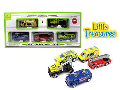 Little Treasures Toy Of Five Model Cars Vibrant, Animated Colors, Build To Collect Likes Of Vehicle