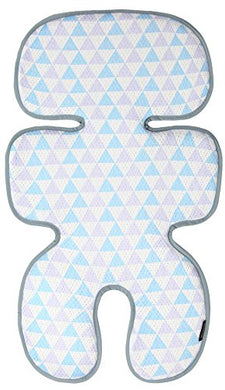 Manito Clean Basic 3D Mesh Seat Pad/Cushion/Liner For Stroller And Car Seat (Triangle Blue/Purple)