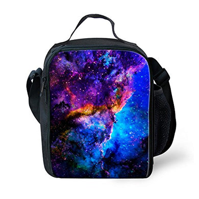For U Designs Novelty Universe Pattern Lunch Bags With Shoulder Strap For Women