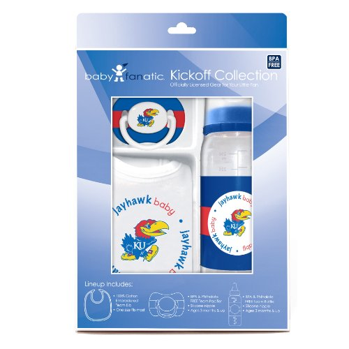 Baby Fanatic Gift Set, University Of Kansas (Discontinued By Manufacturer)