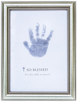 The Grandparent Gift So Blessed Baby Handprint Frame: Christian Baby Gift For Girl Or Boy