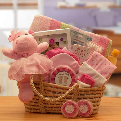 For A Precious New Baby Girl Gift Basket - Great Shower Gift Idea For Newborns