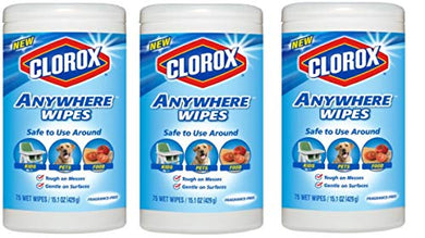 Anywhere Wipes, Fragrance-Free, Can Use Vinyl, Fiberglass, Marble, Acrylic 75 Ct