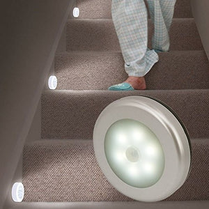 Motion Sensor Light, Tongji Battery-Powered Motion Sensor Led Night Light, Wireless Led Touch Tap Push Light For Hallway, Closet, Stairs, Bedroom, Nursery (White)