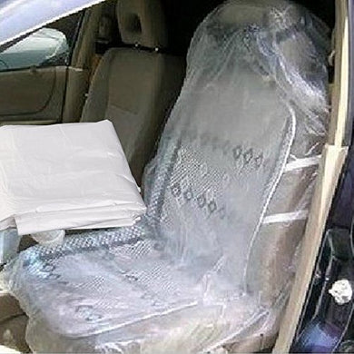 20Pcs Car Clear Disposable Auto Plastic Seat Films Full Covers For Repair New