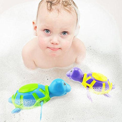 Wind Up Turtles Water Bath Toy, Swimming Pool Bathtub Chain Animal Clockwork Floating Swimming Turtories, Great Baby Shower Gift For Kids Children