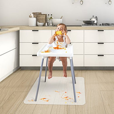 Chair Mat For Baby High Chair | Opaque Child Floor, Feeding And Play Mat | Bpa, Phthalate And Odor Free |36  X 47
