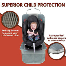 Load image into Gallery viewer, Car Seat Protector Under Baby Carseat- Extra Padded For Xl Size Car Seat-Waterproof&Amp;Durable Premium Materials-Extra Large Storage Pocket - Prevents Dirt And Damage On Leather Car Seat(Grey)