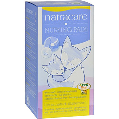 Natracare Nursing Pads - 26 Count - Gluten Free - Yeast Free-Wheat Free-