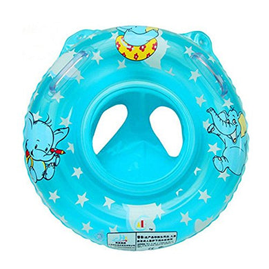 Ioffersuper Inflatable Swimming Ring/Seat Handles Toddler Baby Safety Aid Float Pool Toy Blue
